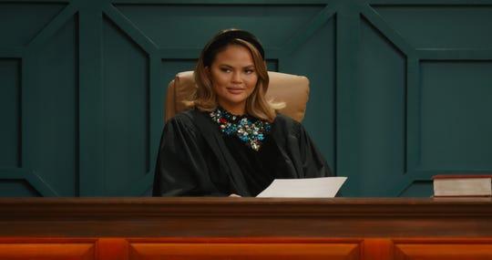 "Chrissy Teigen on ""Chrissy's Court"" on Quibi."
