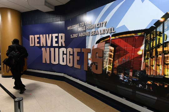 The Denver Nuggets shut down access to their facility on March 16 because of the coronavirus pandemic.