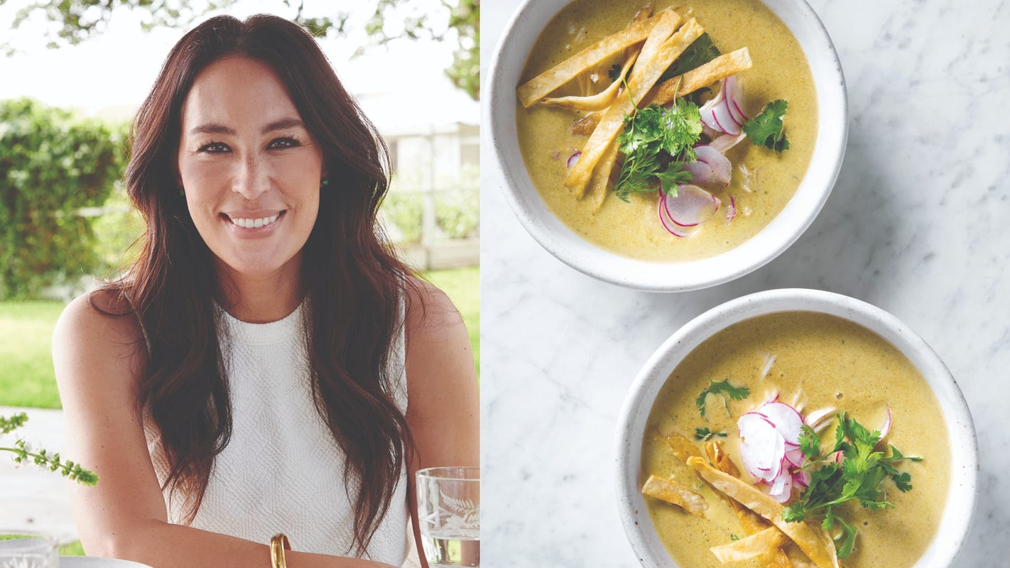 This creamy chicken poblano soup recipe reminds Joanna Gaines of early dates with husband Chip
