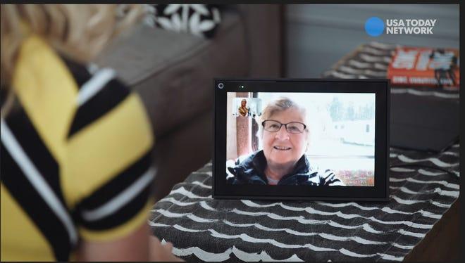 Talking with my Mom via Messenger for Desktop via Portal