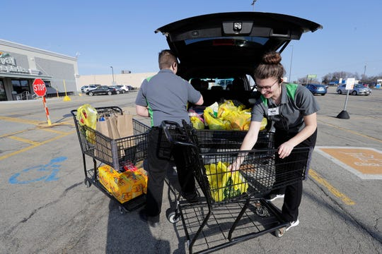 Before the pandemic, online orders at grocery stores like Festival Foods were filled in a matter of hours for pickup. Now customers should plan a few days ahead for pickup and delivery orders to be filled.