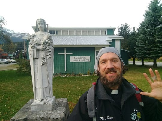 Rev. Dave Swantek, pastor of St. Martha Parish in Point Pleasant, during his summertime ministry in Alaska.