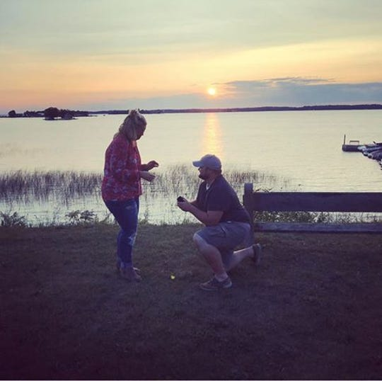 Marc Baker and Alyssa Cinti were engaged in July 2018.