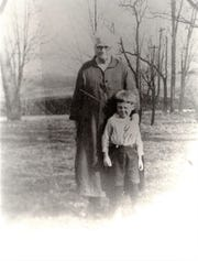 Catherine Carey Smith, Gerald Smith's paternal great-grandmother and Gerald Smith's father, Robert Smith, about 1925.