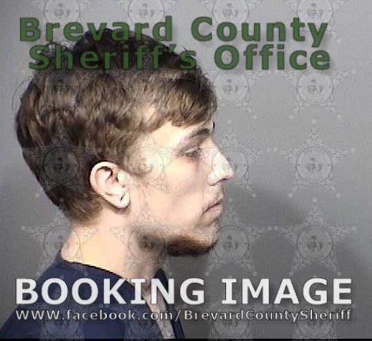 James Jarvis's mughsot was retaken as it was not acceptable for him to have his face covered. Both sets of mugshots were missing last week from the BCSO's website until asked about by FLORIDA TODAY on Friday. BSCO spokesman Tod Goodyear blamed the pictures disappearance on a systems error that had been since fixed.