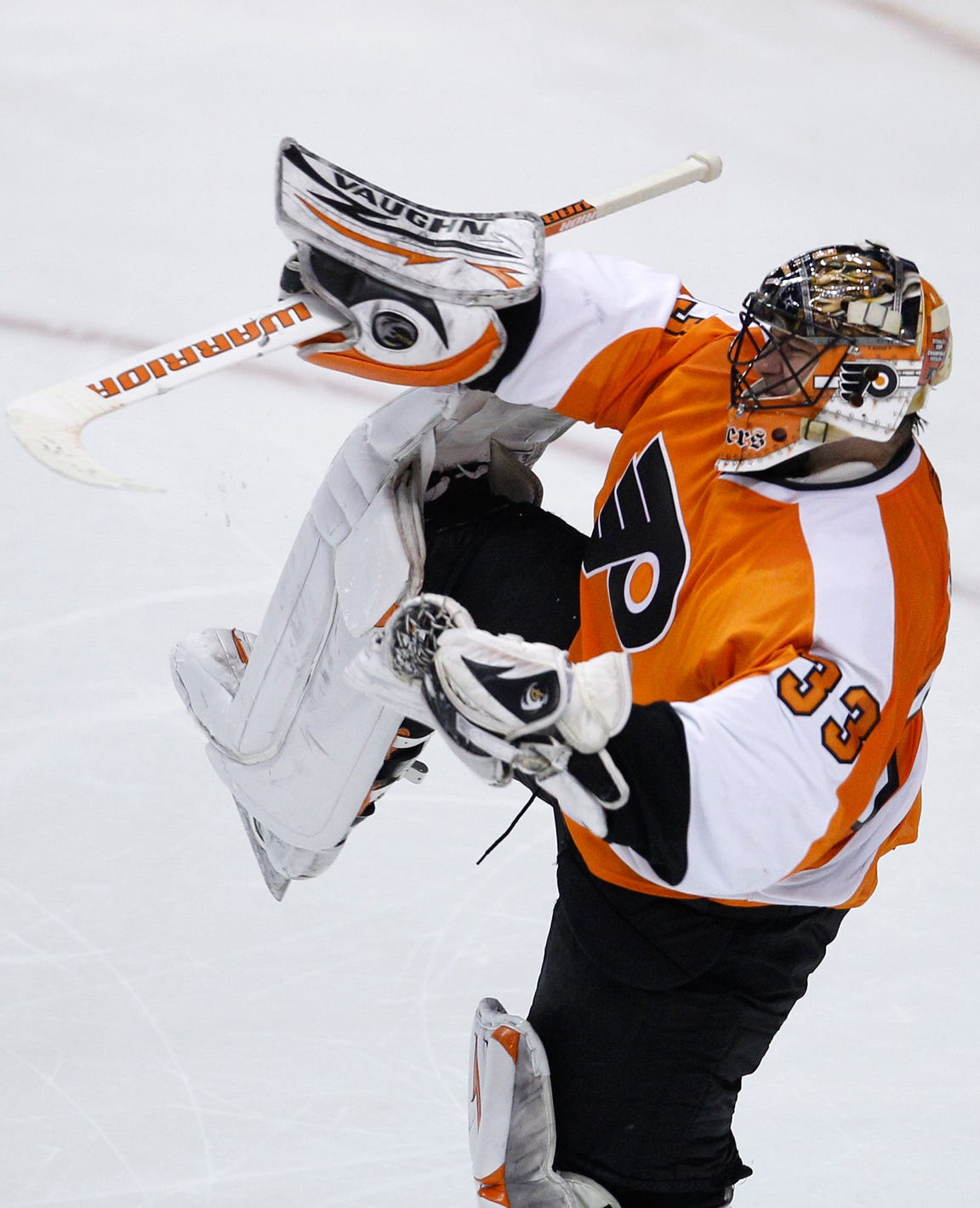 Brian Boucher's celebration was an ode to Henrik Lundqvist, and one of the most iconic images in Flyers franchise history.
