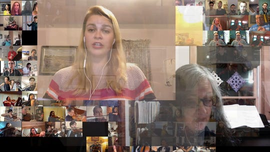Cunningham Piano created a virtual Mozart concert using hundreds of vocalists and musicians from around the globe and made a video of it. This is a screenshot of the video.