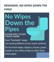 Municipalities are asking residents to refrain from flushing sanitizing wipes down the toilet, as well as littering essential store parking lots with disposable gloves and masks.