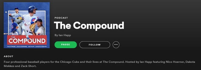 """Cubs players Zack Short, Ian Happ, Dakota Mekkes and Nico Hoerner have launched a new podcast, """"The Compound,"""" while the MLB season is on hold."""