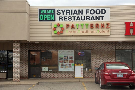 Pattternz Syrian restaurant at 38948 Dequindre in Sterling Heights on Sunday, March 29, 2020.