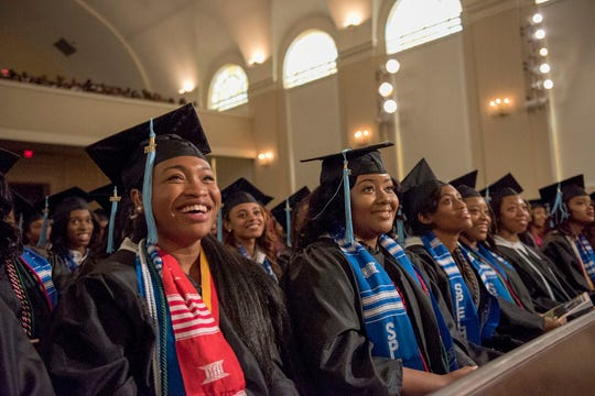 Officials at Spelman College in Atlanta say they're grateful for help from the Ford Fund in getting students evacuated during the COVID-19 pandemic. This photo was taken in Spring 2017.
