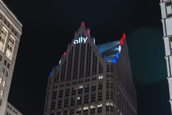The Ally building in downtown Detroit.