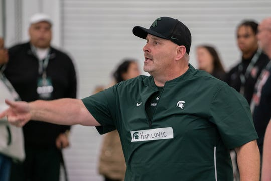 New Michigan State offensive line coach and run game coordinator Chris Kapilovic.