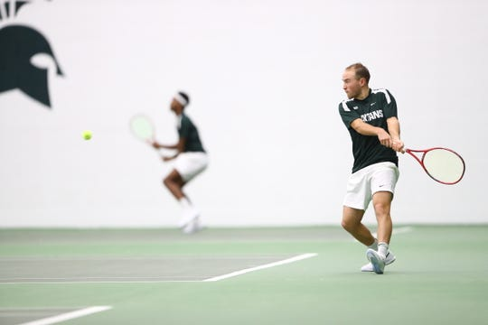 Michigan State sophomore Anthony Pero returned to Germany to be with his family after the Spartans' men's tennis season was canceled.