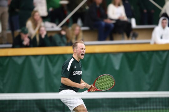 Michigan State sophomore Anthony Pero returned to Germany to be with his family after the Spartans' men's tennis season was canceled. The Pero family moved from Allen Park overseas for his father Tony's job with Ford.