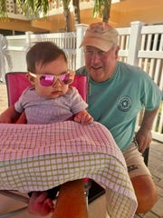 Jim Darcangelo with his granddaughter, Isabella.