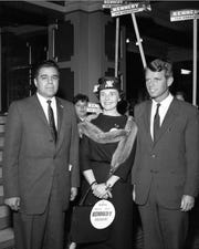 James Megellas, left, is pictured with Robert Kennedy, who was making a campaign appearance at the Hotel Retlaw in support of his brother John Kennedy's run for president in 1960 during Wisconsin's spring primary. James Megellas was a candidate for Congress.