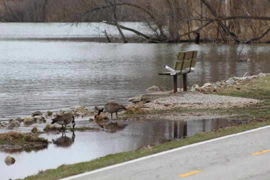 Lake Erie continues to have record high water levels, with the impacts felt in Ottawa County among property owners, municipalities and state parks like East Harbor State Park, seen here Tuesday. Flooding and shoreline erosion have been seen early this spring in impacted areas.