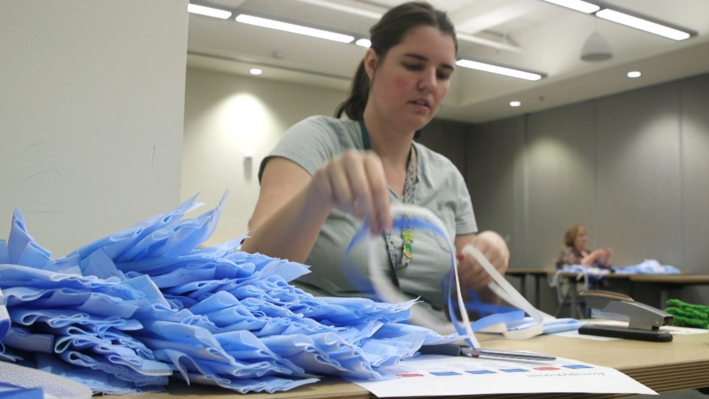 Homemade, 3D printed masks filling gaps for workers on front line of coronavirus epidemic