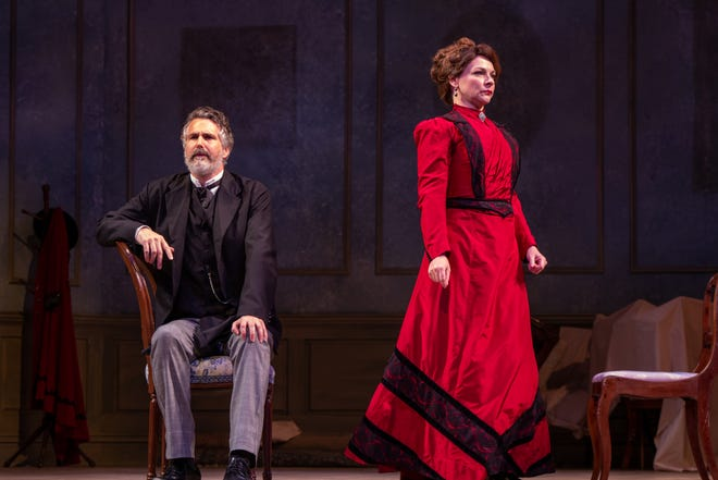 """Brendan Powers and Rachel Burttram Powers star in Florida Rep's """"A Doll's House, Part 2."""" The video production is available online."""