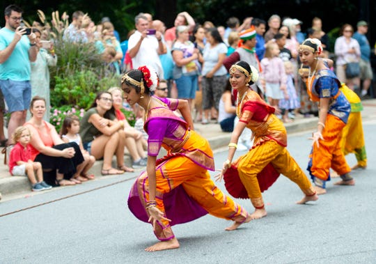 The India Day parade travels along Main Street in Greenville