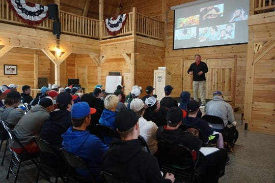 Ron Wolworth teaches amateur pitchers at his Texas Baseball Ranch just outside of Houston. Wolworth is worried what an extended time away from the game will do to college pitchers.
