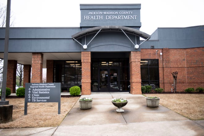 Briefings are being held by West Tennessee leaders and health officials, to update the community about their next steps and plans about the novel coronavirus, or COVID-19 at Jackson- Madison County Regional Health Department in Jackson, Tenn Monday, March 23, 2020.