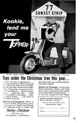 Harley-Davidson ad in the December 1959 Popular Science Monthly magazine.