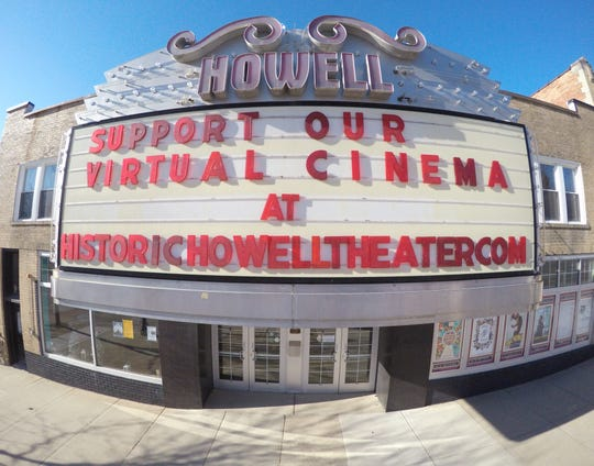 The Historic Howell Theater, shown Friday, April 3, 2020, is temporarily offering virtual cinema through its website.