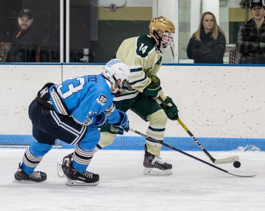 Stefan Frantti (14) scored 14 points in his final five games, leading Howell to the state hockey semifinals.