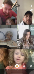 Screenshot of Keiko Neutz's family using a video chat app while she was hospitalized, before she died from complications of COVID-19.