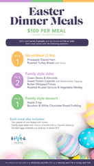 River House Easter Family Meal Menu 2020.
