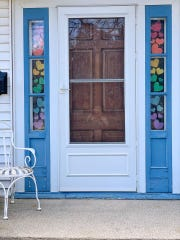 Facebook call-outs based in Manitowoc have included hanging blue ribbons on our houses and yards to honor health care workers, hanging colorful hearts on our doorways (shown here) and windows as a way to express unity with neighbors, and putting a stuffed bear in the front window so neighborhood children can go on a local 'bear hunt.'
