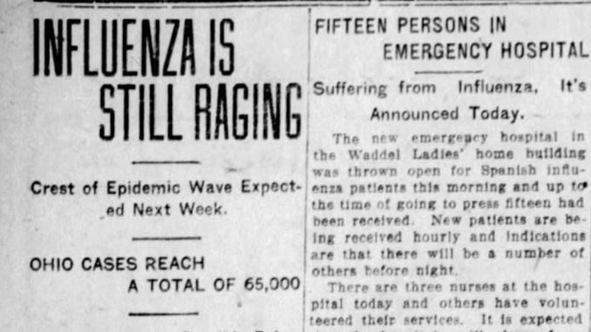 1918 Spanish Flu Epidemic Touched Marion County