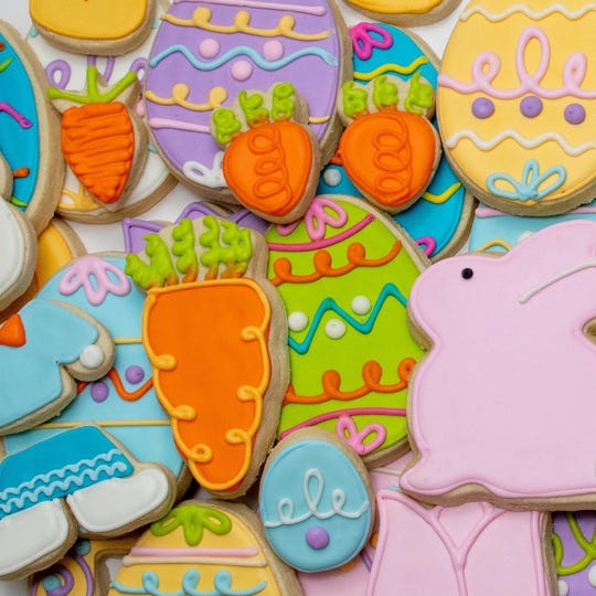 Easter cookies from Whimsy Cookie Company.