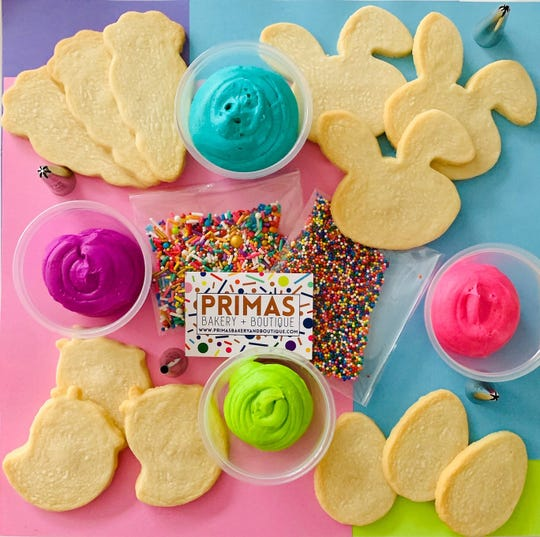 Primas Bakery + Boutique's Easter cookie decorating kits.