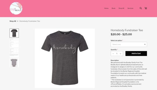 In an age of isolation and self-quarantine, these 'Homebody' t-shirts are being sold as a fundraiser to benefit the Baxter Regional Medical Center Foundation.