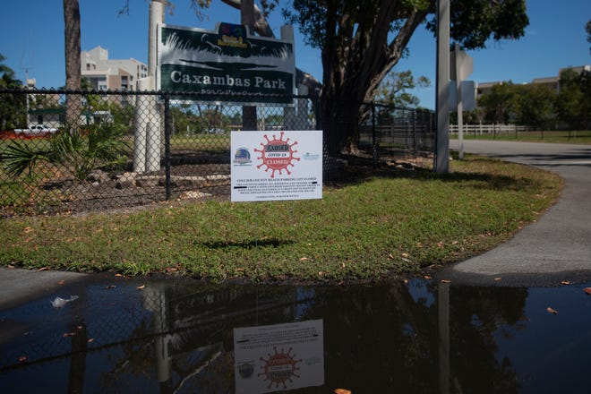 Caxambas Park remains closed to the public as of Wednesday, April 1, 2020, in Marco Island.