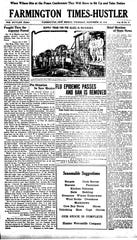 The Farmington Times-Hustler declared that the flu epidemic had passed on Nov. 28, 1918. Shortly afterward, a second wave hit.