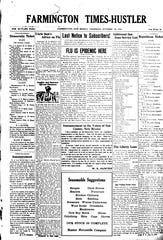The Oct. 24, 1918, copy of the Farmington Times-Hustler announces that the flu has reached the community.