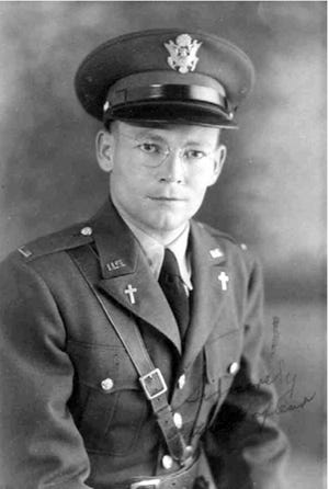 Chaplain Joseph Verbis Lafleur – Photo taken shortly after he enlisted in the US Army Air Corp in 1941.