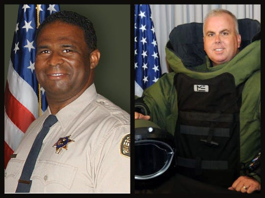 Riverside County sheriff's Deputy Terrell Young, left, and fellow Deputy David Werksman each died on Thursday, April 2, 2020, after they contracted the coronavirus, Sheriff Chad Bianco announced.