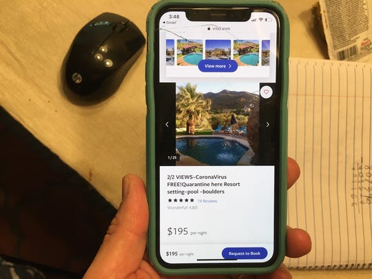 "Several vacation rentals in Arizona, already the bane of many neighborhoods, are advertising with slogans like ""coronavirus free! Quarantine here. Resort setting,"" ""escape your quarantine,"" and even ""N95 masks included"" to entice guests in Arizona."