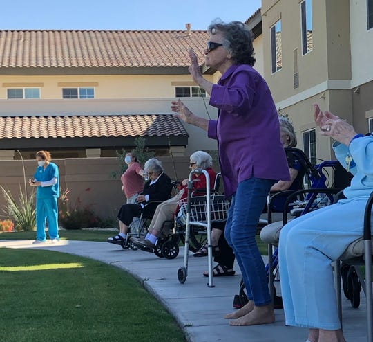 Resident Mo Shaver kicked off her shoes and got up to dance during a show by Short and Sweet Entertainment.