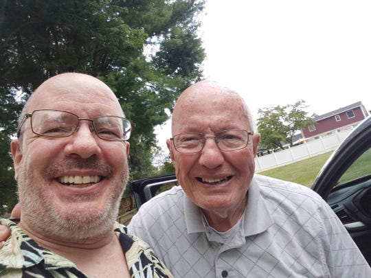 John Piermatteo, left, wanted to do something nice for his father, Phil. He asked his Facebook friends to call his father to break up the monotony and isolation of being under a stay-at-home order.