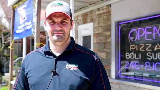 Primo Pizza owner Ryan Frey is thrilled to be able to help the community, April 2, 2020.