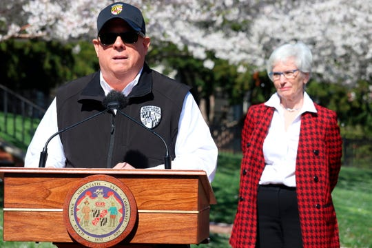 "Maryland Gov. Larry Hogan announces a ""stay-at-home"" directive during a news conference on Monday, March 30, 2020, in Annapolis, Md. Hogan said no Maryland resident should be leaving home unless it is for an essential job or for an essential reason such as obtaining food, medicine or urgent medical attention. The order was set to go into effect at 8 p.m. Monday.(AP Photo/Brian Witte)"