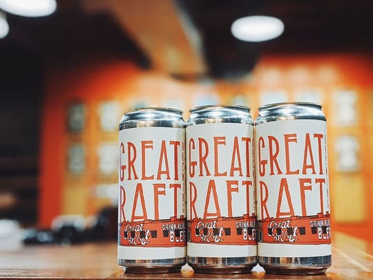 Great Raft Brewing offers crowler beer-fills as part of its curbside service.
