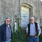 Columnist Steve Pokin was trying to find out the history of an old building when he just happened to run into historian Tim Ritter, left, and Ozark Mayor Rick Gardner.