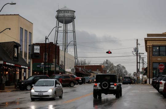 Traffic along South Main Avenue in Bolivar on Friday. Traffic has significantly decreased in recent weeks, according to Bolivar resident Randy Steward.
